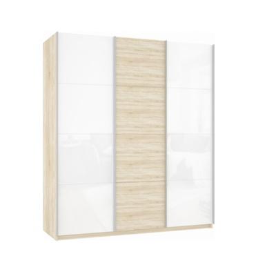 Шкаф Прайм 3-х дверный (Белое стекло/ДСП) ш 1800