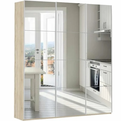 Шкаф Прайм 3-дверный (зеркало) ш 1800
